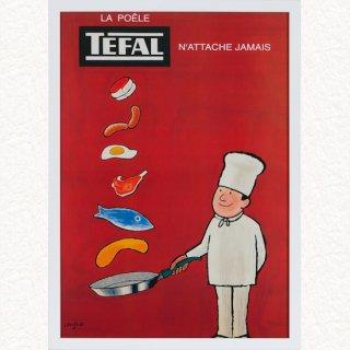 TEFAL-テファル 1960(ポスターA2 額入り)