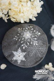snowflakeベレー帽(Blythe size)