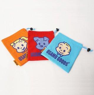 オサムグッズ / OSAMUマナーポーチ ブルー、レッド、オレンジ