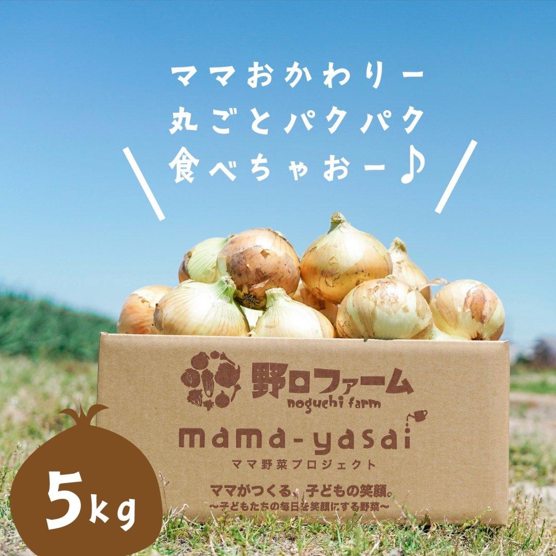 mama-yasai 完熟たまねぎ 5kg 【ブラザーズの元気の源!子どもたちを育てるたまねぎ♪】【人気】