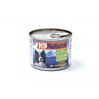 K9Natural プレミアム缶 ラム・グリーントライプ 170g×24缶