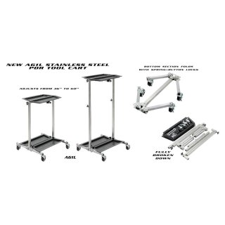 A61L - ULTRA LIGHTWEIGHT STAINLESS PDR TOOL CART