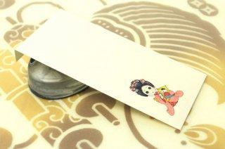 日本髪娘封筒 お正月・凧(鴛鴦)