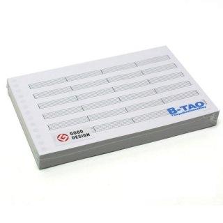 B-TAO五線紙 6段 4小節区切り 100枚