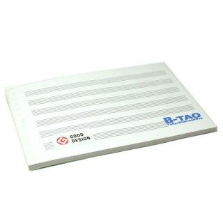 B-TAOパッド カード五線紙 6段 30枚
