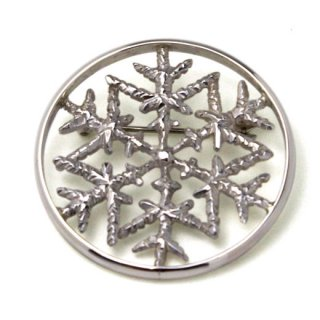 雪の環付きブローチ