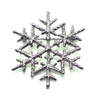 雪の結晶ブローチ(ロジウムメッキ)