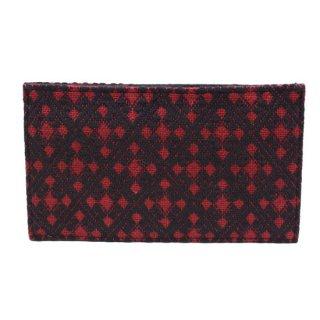 刺し子カードケース 03赤/黒