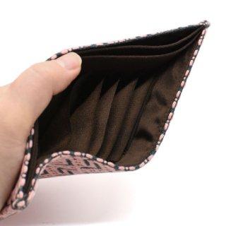 刺し子カードケース 04グリーン/ピンク