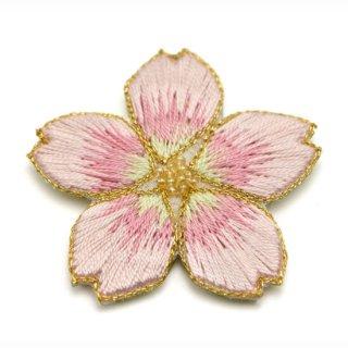 刺繍背守り 桜 <咲初め>