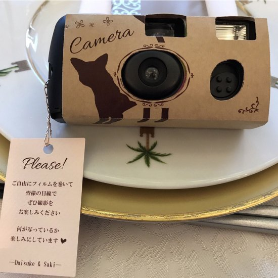 インスタントカメラ用 カバー&タグ , 【名入れ対応・結婚式のペーパーアイテム通販サイト~kinacoro(きなころ)~】