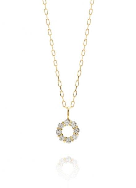 K18 (0.1ct) ダイヤモンドネックレス「リング」