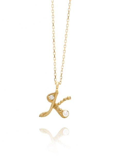 K10YG イニシャルネックレス「K」