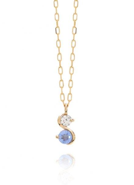 K10YG 誕生石ネックレス「12月タンザナイト/ダイヤモンド」