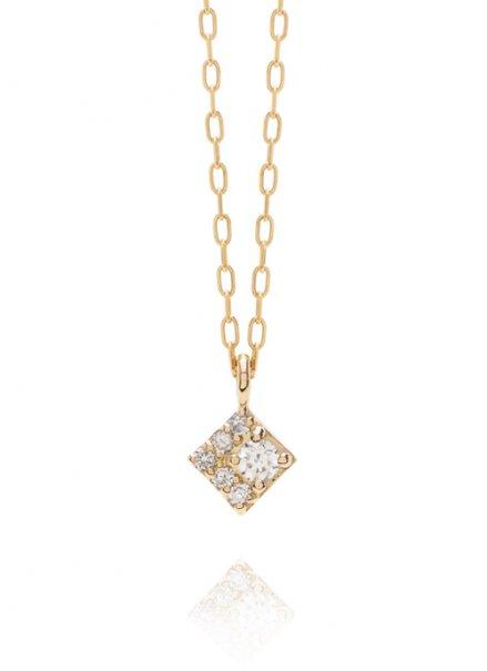 K10YG 誕生石ネックレス「4月 ダイヤモンド」