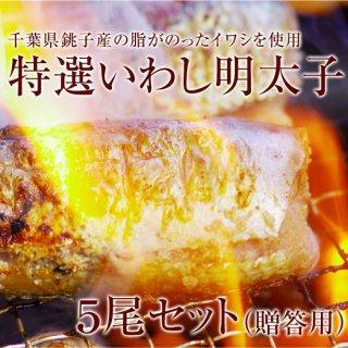 【特選!いわし明太子】 (大)5尾(贈答用)