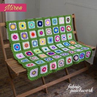 Miree かぎ針編みブランケット グリーン g0001