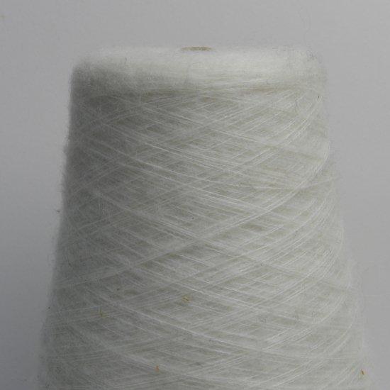 白色の毛糸 268g/番手:1/7.5/丸安毛糸(株)