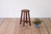 レトロ 無垢材 スツール 丸椅子 花台 ヴィンテージ ナチュラル 木製 1