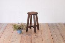 レトロ 無垢材 スツール 丸椅子 花台 ヴィンテージ ナチュラル 木製 2