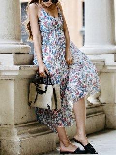 Vintage Flowerプリーツアシメドレス