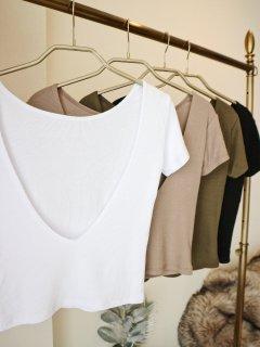 Back U Open Tシャツ