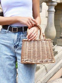 Rattan Open Bag