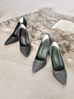 Synthetic Leather Python Pumps