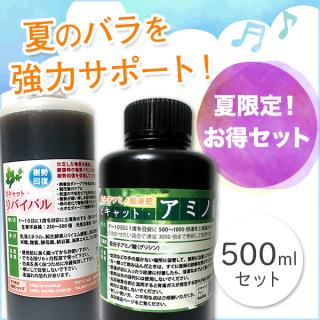 夏バラ強力サポートセット!リバイバル&アミノ500ml【平成30年7月豪雨チャリティー商品】