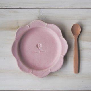 マカロンピンク・花まるリム皿-大-