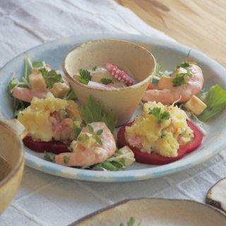 粉福豆小鉢(反り)