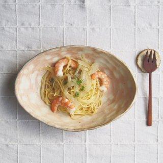 粉福楕円皿-パスタ皿-