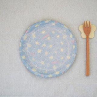 hana*hanaパイ皿-ブルー-