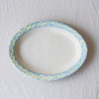 いっちんだえんリム皿-ブルー-