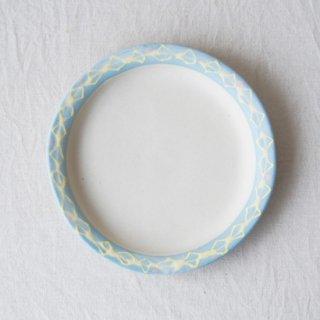 いっちん丸リム皿-ブルー-