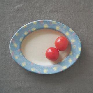 hana*hanaだえんリム皿-ブルー-