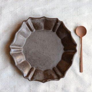 キャラメリゼブラウン・六角ロココ皿