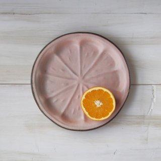 zakka・オレンジ皿-ピンク