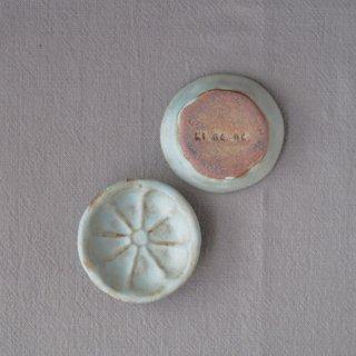 zakka・オレンジ豆小皿-ブルー