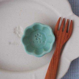 マカロンミントグリーン・輪花豆小皿