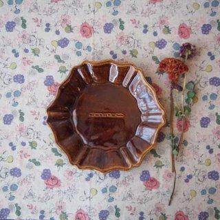 飴釉六角ロココ皿