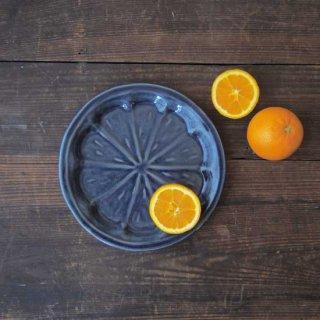 瑠璃釉オレンジ皿