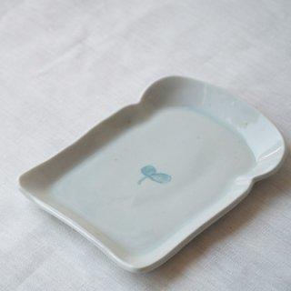 白磁食パン皿-ふたば-