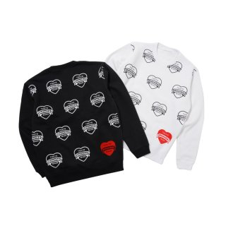 <img class='new_mark_img1' src='//img.shop-pro.jp/img/new/icons50.gif' style='border:none;display:inline;margin:0px;padding:0px;width:auto;' />MONOGRAM HEART DESIGN CREWNECK SWEAT