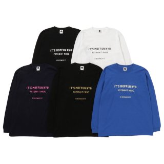 【予約】MOFFUNNYO NAME LOGO LONG SLEEVE TEE