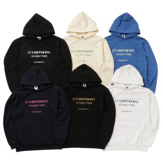 <img class='new_mark_img1' src='//img.shop-pro.jp/img/new/icons50.gif' style='border:none;display:inline;margin:0px;padding:0px;width:auto;' />MOFFUNNYO NAME LOGO SWEAT HOODIE