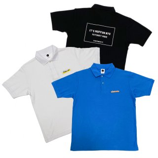 MOFFUNNYO NAME LOGO POLO S/S SHIRT