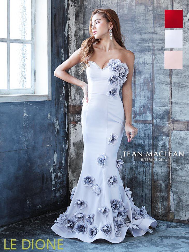 [JEAN MACLEAN/ジャンマクレーン]フラワーデコラティブベアトップマーメードロングドレス