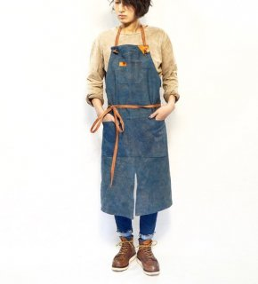 エプロン/ブルーグレー/三河織物 綾織