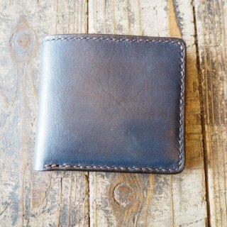 ビルフォード(折り畳み財布 ハーフウォレット)/藍染レザーヌメ革